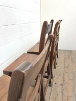 Harlequin Set of 19th Century Welsh Oak Ball & Rail Back Chairs (11 of 11)