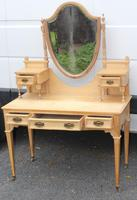 1900's Elegant Country Pine Dressing Table with Central Mirror (2 of 4)
