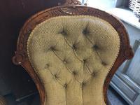 Victorian Oak Ballon Back Chair