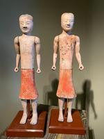 Two Han Dynasty Chinese Pottery 'Stick Men' figures '200BC-200AD' (3 of 8)