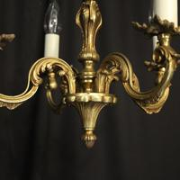 French Gilded Brass 4 Light Antique Chandelier (5 of 6)