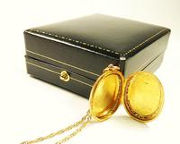 Antique 9ct Gold Hallmarked Photo Locket 1915 (4 of 8)
