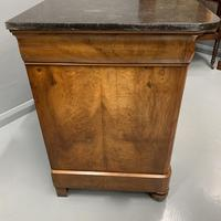 Figured Walnut and Marble Top Commode (2 of 13)