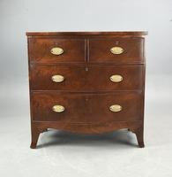 Small Georgian Mahogany Bow Front Chest of Drawers