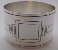 Walker & Hall Set 4 Art Deco Hallmarked Solid Silver Napkin Rings Serviette Ring (3 of 10)