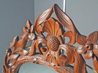 Carved Black Forest Walnut Wall Mirror (4 of 7)