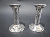Pair of Arts & Crafts silver Candlesticks (4 of 6)