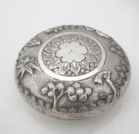 Outstanding quality Bhowanipore antique silver lidded pot Calcutta c 1890 (3 of 11)