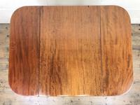 Antique Mahogany Drop Leaf Side Table (10 of 11)