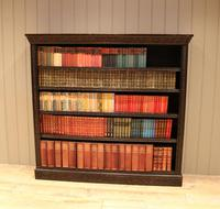 Large Victorian Open Dark Oak Bookcase (5 of 10)