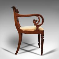 Antique Elbow Chair, English, Mahogany, Carver, Drop-in Seat, Regency c.1820 (4 of 12)