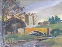 Watercolour Bourthwick  Castle Scotland, A B Moffat (10 of 10)