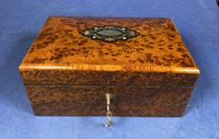 Victorian  French Burr Cedar Jewellery Box with It's Original Interior (9 of 13)