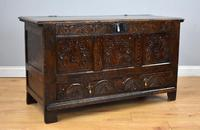 17th Century Oak Carved Coffer with Drawer (2 of 14)