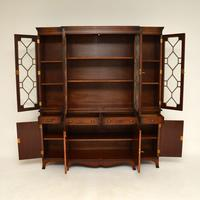 Antique Mahogany Breakfront  Bookcase (3 of 12)