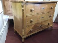 Vintage Pine Continental Three Drawer Chest of Drawers (4 of 8)