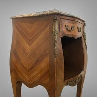 French Marquetry Bedside Table Louis XVI Style (5 of 10)