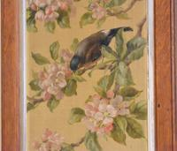 Pair of Oil Paintings of Finches in Blossom (6 of 12)