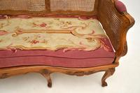 Antique French Carved Walnut Bergere Sofa (8 of 15)