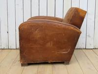 1930s French Leather Club Chair (4 of 13)