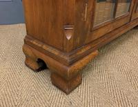 Burr Walnut Bookcase or Side Cabinet (17 of 18)