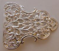 Victorian Birmingham 1898 Hallmarked Solid Silver Nurses Belt Buckle (8 of 8)