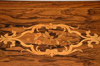 Antique Victorian Marquetry Top Console Table (8 of 12)