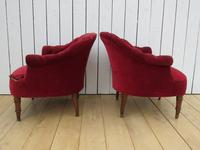 Pair of Antique French Button Back Chairs (5 of 9)