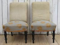 Pair of Antique French Slipper Chairs (2 of 9)