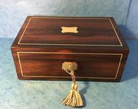 Regency Rosewood Brass Inlaid Jewellery Box (10 of 12)