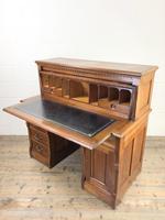 Edwardian Cylinder Roll Top Bureau Desk (4 of 13)