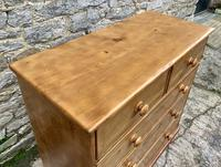 Antique Pine Chest of Drawers (6 of 17)