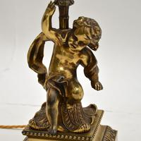 Antique French Gilt Metal Table Lamp (5 of 9)