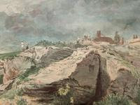 John Charles Denham (Exh.1796-1858) Fine Original Landscape watercolour Painting (4 of 13)