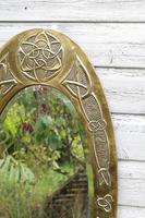 Arts & Crafts Movement Scottish / Glasgow School Large Oval Wall Mirror c.1900 (9 of 28)