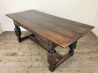 Antique Carved Oak Refectory Dining Table (5 of 15)