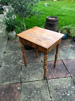 Antique 18th Century French Solid Fruitwood Rustic Side Table With Drawer (5 of 6)
