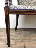 Antique Edwardian Mahogany Inlaid Parlour Sofa (8 of 15)
