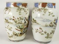 Large Mirror Pair of Japanese Samurai Kutani Vases (5 of 7)