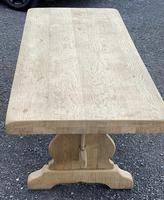Bleached Oak Trestle End French Farmhouse Dining Table (14 of 22)