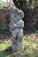 Composition Stone Cherub Bird Bath (2 of 3)