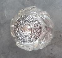 Sterling Silver Topped Cut Glass Perfume Bottle  - 1902 (2 of 4)