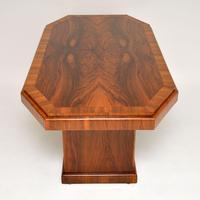 1920's Art Deco Figured Walnut Dining Table (5 of 10)