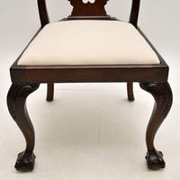 Set of 8 Antique Mahogany Chippendale Dining Chairs (11 of 14)