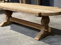 Large Rustic French Bleached Oak Farmhouse Dining Table (30 of 40)