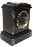Antique French Slate & Marble Mantel Clock striking 8 day Mantle Clock (5 of 8)