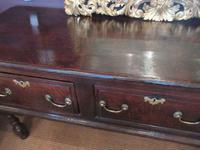 George II Period Oak Three Drawer Dresser (12 of 14)