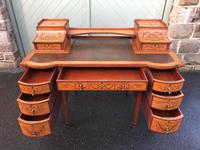 Inlaid Satinwood Carlton House Desk By Maple & Co (3 of 16)