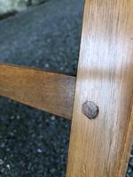Antique Walnut Stool by Heals (3 of 6)