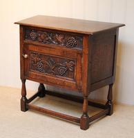 French Dark Oak Side Cabinet (8 of 10)